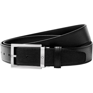 Thắt Lưng Da Montblanc Rectangular Shiny Stainless Steel Pin Buckle Belt 114435