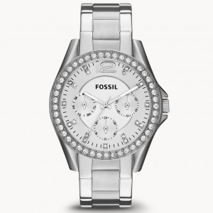 Đồng Hồ Fossil Nữ Riley Multifunction Stainless Steel Watch ES3202 38mm