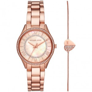 Đồng Hồ Michael Kors Nữ Lauryn Three-Hand Rose Gold-Tone Giftset MK4491 33mm