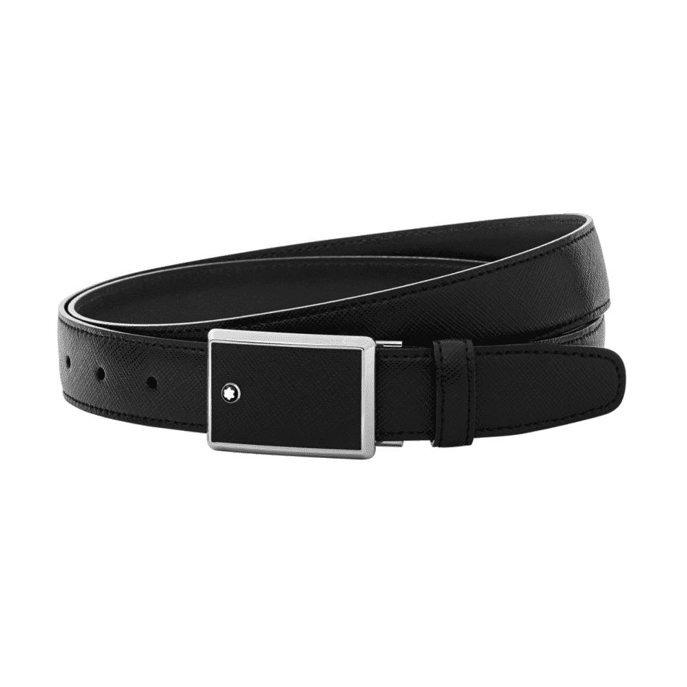 Sản phẩm thắt lưng Montblanc 114421 authentic có màu đen sang trọng rất dễ trong việc phối nhiều phong cách thời trang.