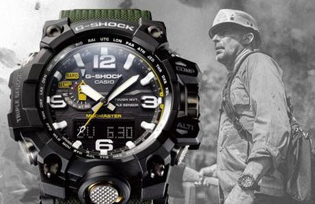 Đồng hồ Casio G-Shock quá nổi tiếng với sự bền bỉ và gai góc
