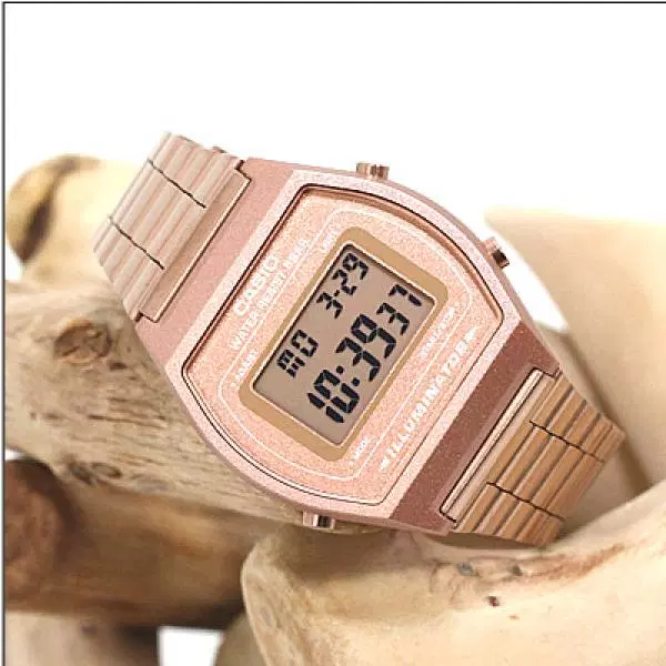 Đồng hồ Casio điện tử nữ màu hồng xinh xắn màu hồng