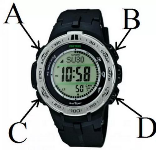 Hướng dẫn chỉnh đồng hồ Casio 4 nút bấm