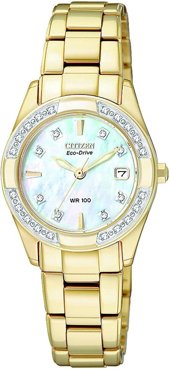 Chiếc đồng hồ mạ vàng nạm kim cương sang trọng
