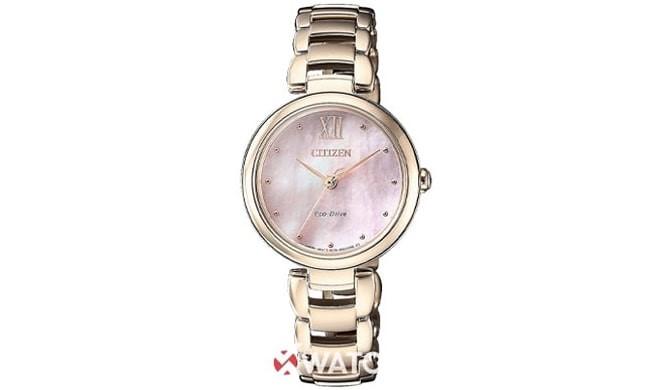 Đồng hồ mặt kính màu hồng nữ tính và sang trọng
