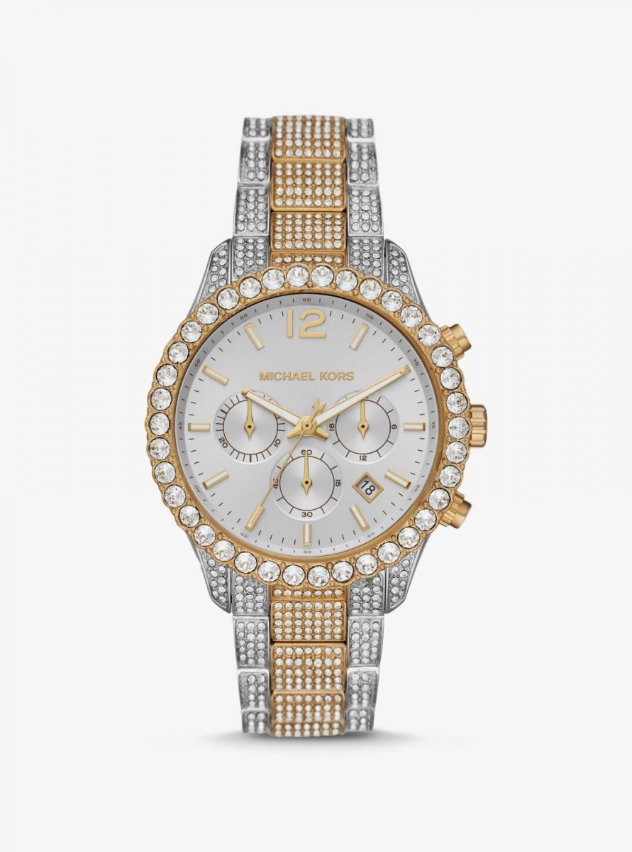 Đồng hồ Oversized Layton Pavé Two-Tone nổi bật với các viên đá Pavé