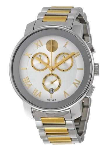 Đồng hồ với 2 màu xám-vàng sang trọng