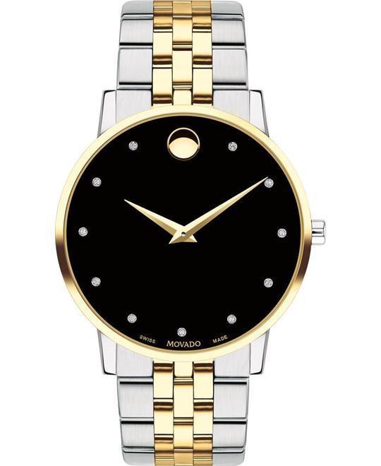 Đồng hồ Movado chính hãng có mặt trong suốt, chi tiết sắc nét