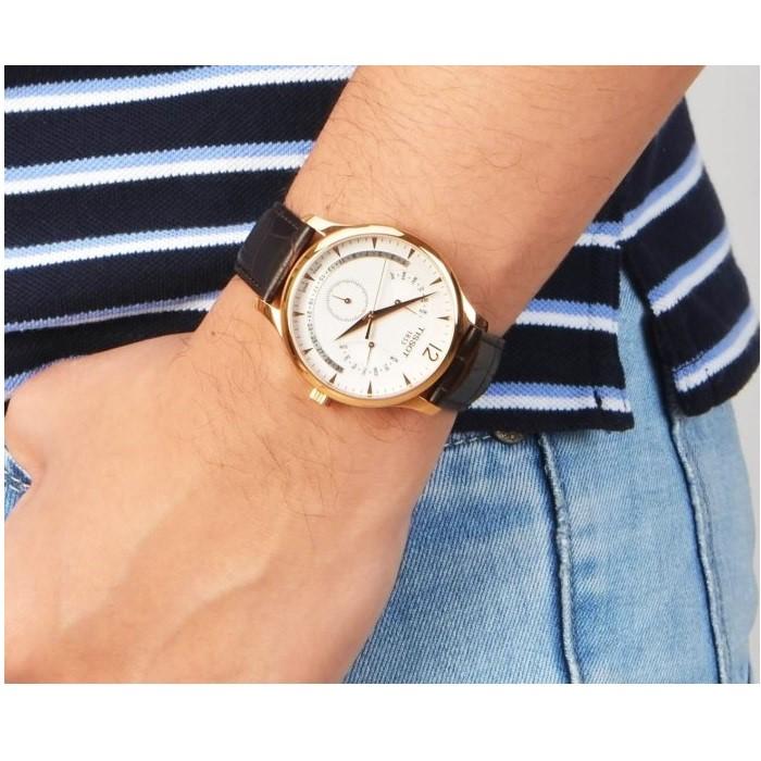 Đồng hồ Tissot Tradition Perpectual Calendar T063.637.36.037.00 42mm với mặt sapphire trắng với tính năng chống thấm nước cao