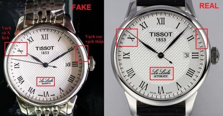 Đồng hồ Tissot chính hãng tại TPHCM được phân biệt bởi nhiều chi tiết khác nhau