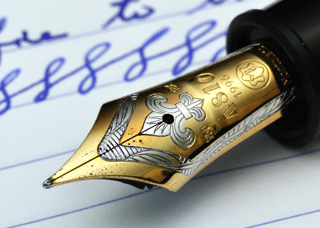 Ngòi bút chế tác thủ công, vô cùng tinh xảo