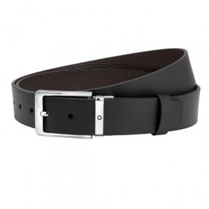 THẮT LƯNG MONTBLANC RECTANGULAR ROUNDED SHINY PALLADIUM - COATED PIN BUCKLE BELT 123909 có giá 6.900.000 tại Qwatch