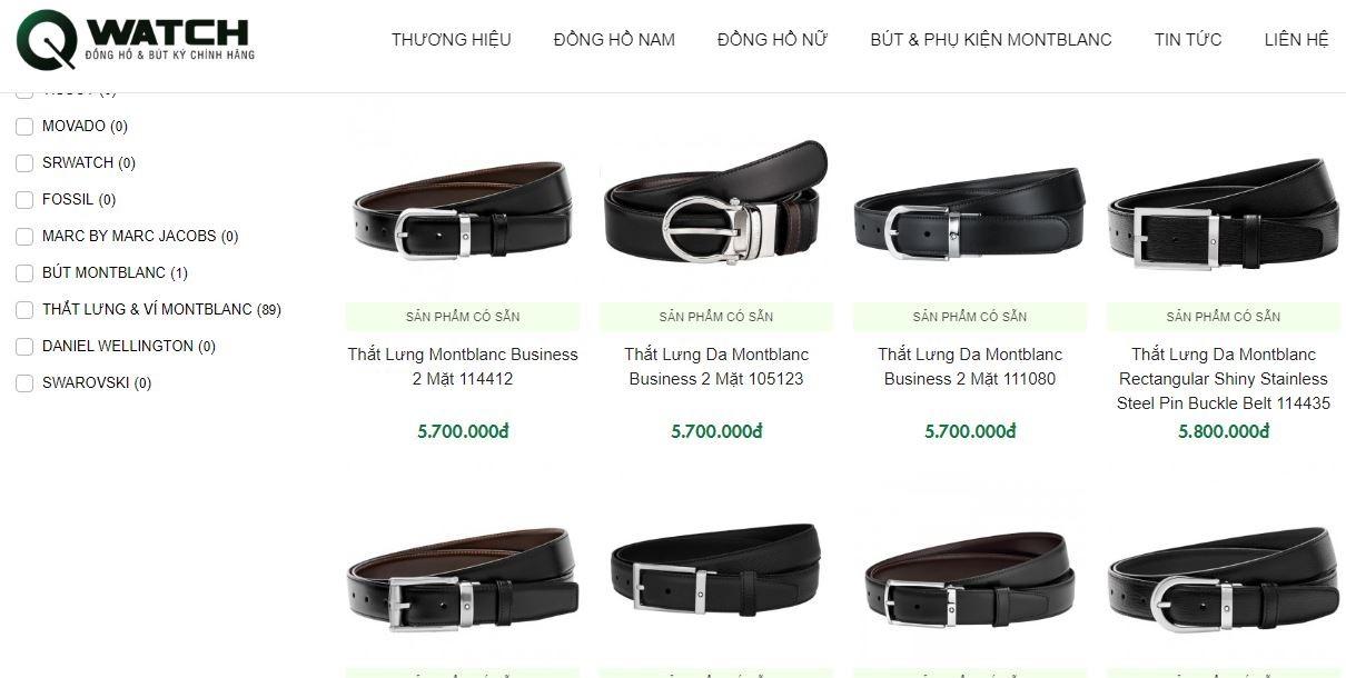 Mua thắt lưng Montblanc các loại chất lượng chính hãng, giá tốt tại Qwatch