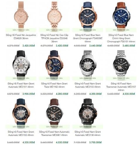 Giá đồng hồ Fossil không quá đắt cũng không quá rẻ