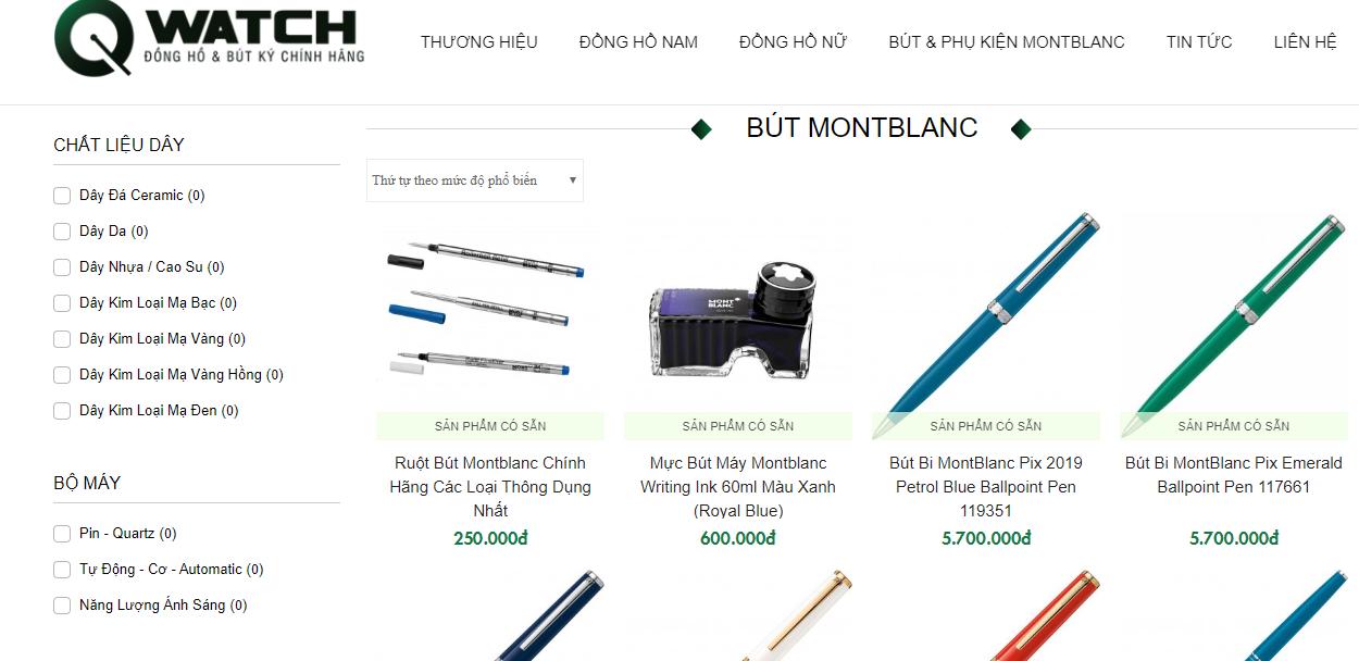 Qwatch là Qwatch - chuyên bán bút Montblanc giá rẻ tại TPHCM